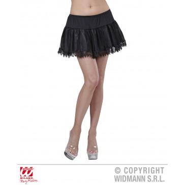 petticoat zwart met franje