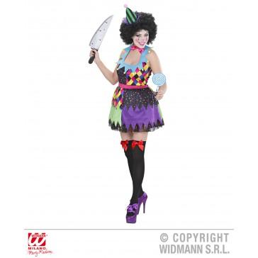 kwaadaardige clown dame