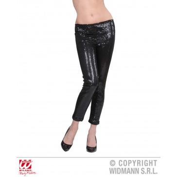 pailletten legging zwart