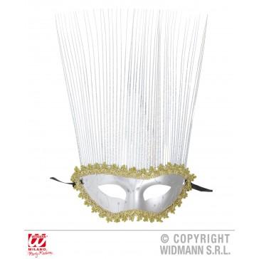 oogmasker zilver met lange punten