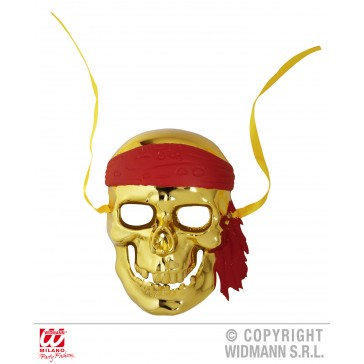 schedelmasker piraat, goud