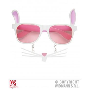 bril, konijn met snorharen