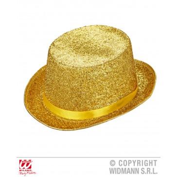 hoge hoed lurex goud of zilver