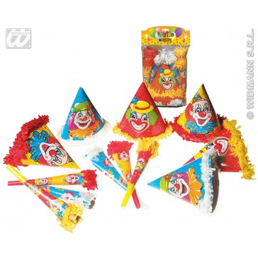 clown party set (12 pcs) per 3 stuks