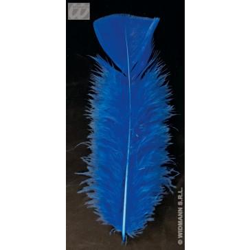 zakje met 50 veertjes, blauw