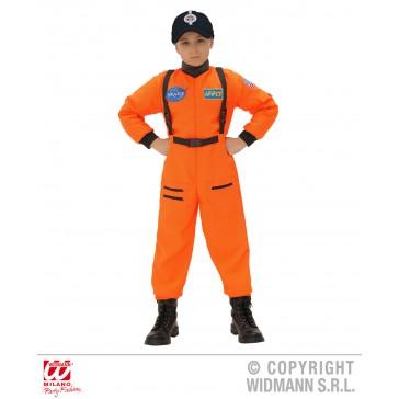 Astronaut jongen oranje