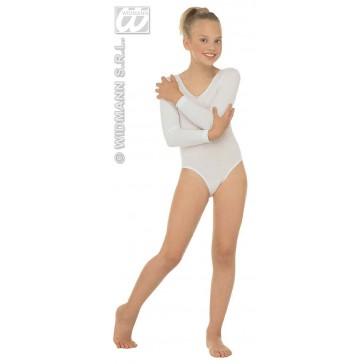 body, meisje met mouwen, wit