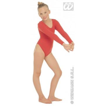 body, meisje met mouwen, rood