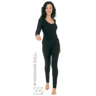 bodysuit dame, met mouwen, zwart