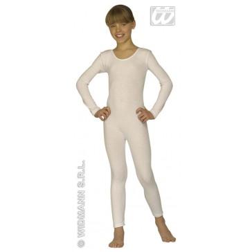 bodysuit meisje met mouwen, wit