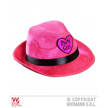 fedora party girl Roze