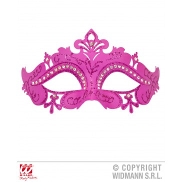 oogmasker venetie met stenen, Roze