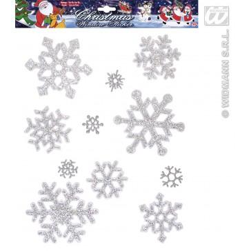 set van 11 sneeuwvlok raam stickers