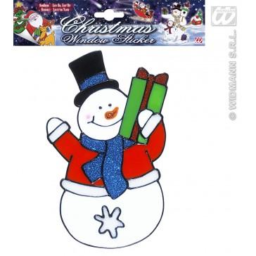 raamstickers 18cm sneeuwpop
