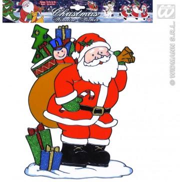 raamstickers 30cm kerstman