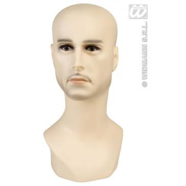 display hoofd blanke man 40cm