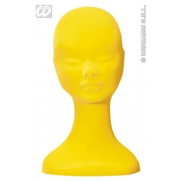hoofd fluweel geel