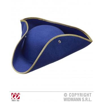 tricorn vilt, blauw
