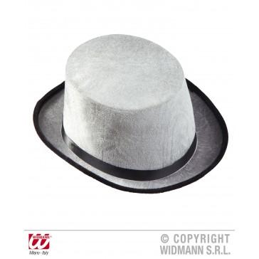 hoge hoed grijs, fluweel