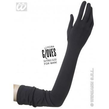 handschoenen lycra, zwart