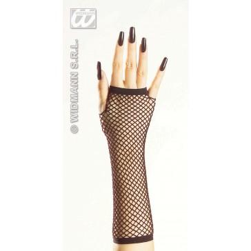 vingerloze nethandschoenen zwart