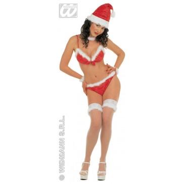 bikini uitvoering kerstvrouw