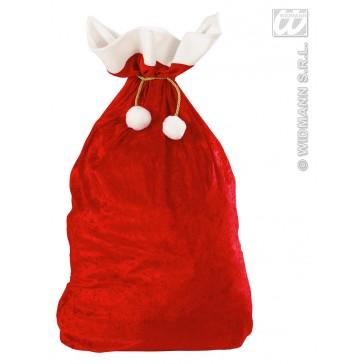fluwelen zak kerstman 60x100cm