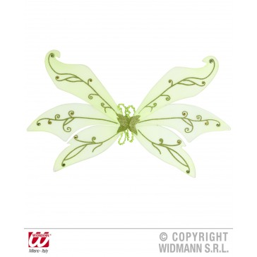 maxi vleugel glitter, groen met diamanten