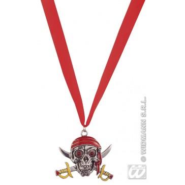 schedel ketting piraat met lichtgevende ogen