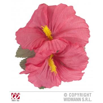 haarclip met 2x hibiscus rose