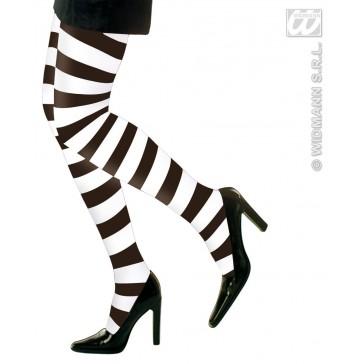 panty zwart/wit gestreept xl