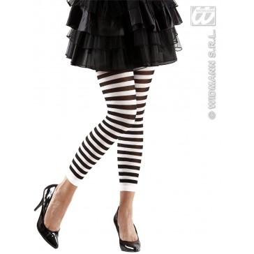 leggings zwart/wit gestreept
