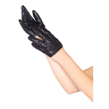 Mini Cropped Sequin Gloves