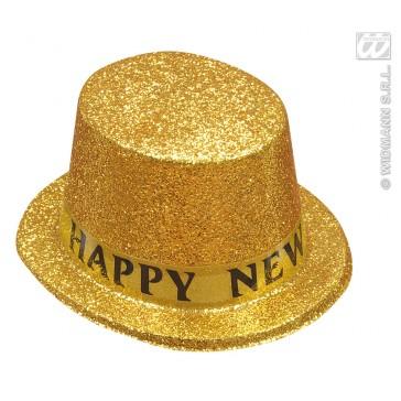 """hoge hoed goud """"happy new year"""""""