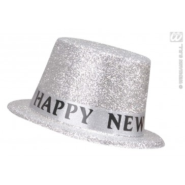 "hoge hoed zilver ""happy new year"""