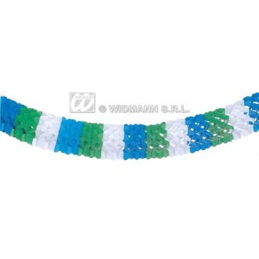 papieren slinger, 3 kleuren, 4mtr
