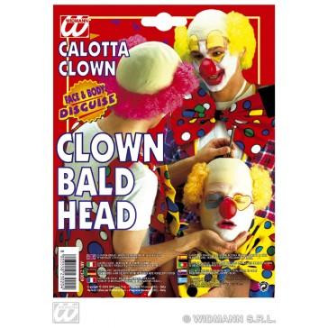 kale kop clown latex met rood haar