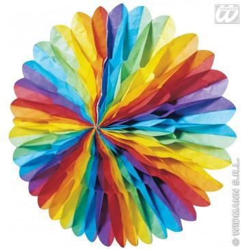 papieren decoratie (3d) meerkleurig, diameter 75cm