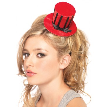 Velvet Striped Top Hat