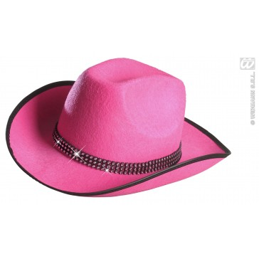 cowboyhoed rose met strass band