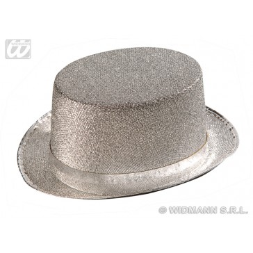 hoge hoed zilverkleurig