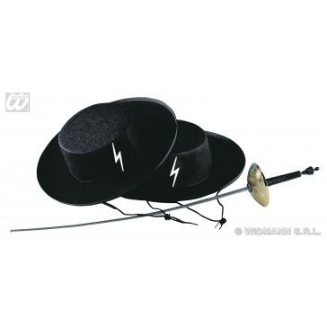 hoed zwarte ruiter, vilt