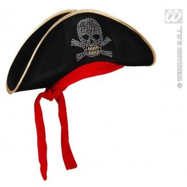 dames piratenhoed met bespijkerde schedel en bandana
