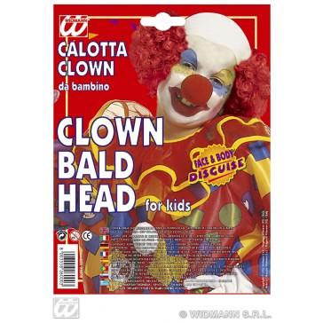 kale kop clown voor kinderen, latex