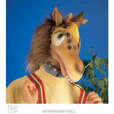 masker giraffe met plush haar