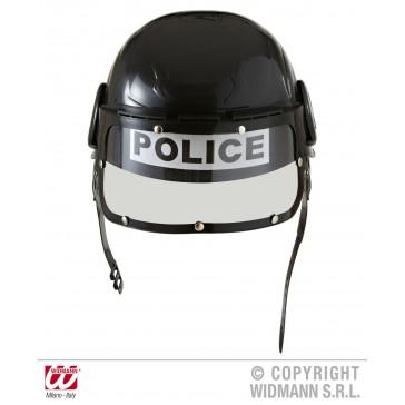 politiehelm van hard plastic