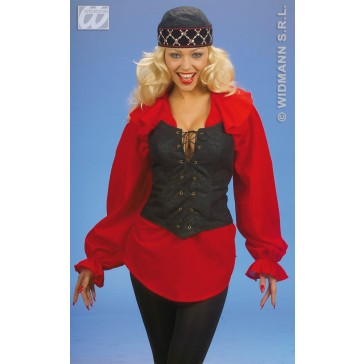 corset, suede