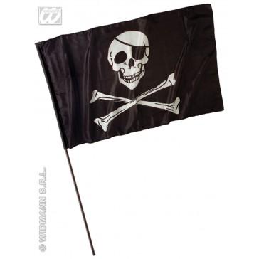 piratenvlag groot met stok