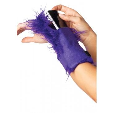 Furry Wrist Wallet