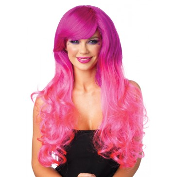 Two-Tone Long Curly Wig
